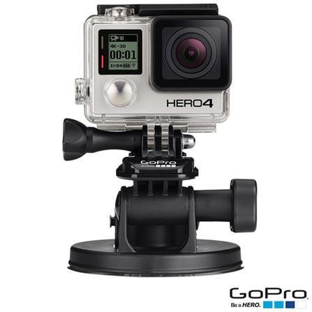 Filmadora GoPro Hero4 Black Adventure com 12 MP e Filmagem em 4K - HERO4BLK + Suporte para Veículos Preto - GoPro, 0
