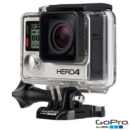 Filmadora GoPro Hero4 Black Adventure com 12 MP, Full HD e Filmagem em 4K - HERO4BLK + Kit de Suportes Preto - Opeco, 0
