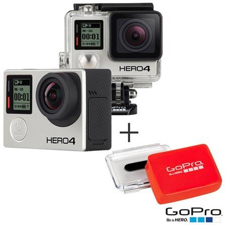 Filmadora GoPro Hero4 Black Adventure com 12 MP, Full HD e Filmagem em 4K + Flutuador Traseiro - GoPro, 0