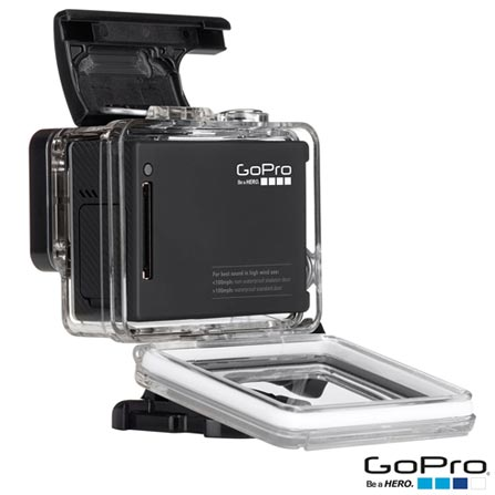 Filmadora GoPro Hero4 Black Adventure com 12 MP, Full HD e Filmagem em 4K -  HERO4BLK + Suporte, 0