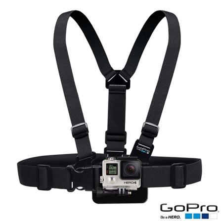 Filmadora GoPro Hero4 Black Adventure com 12 MP e Filmagem 4K - HERO4BLK + Cinturão para Suporte Peitoral Preto - GoPro, 0