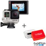 Filmadora GoPro Hero4 Silver Adventure com 12 MP, Full HD e Filmagem em 4K + Flutuador Traseiro Laranja - GoPro