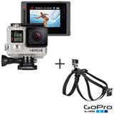 Filmadora GoPro Hero4 Silver Adventure com 12 MP, Full HD e Filmagem em 4K - HERO4SILV + Cinturão Canino Preto - GoPro