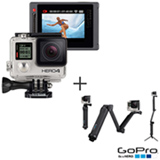 Filmadora GoPro Hero4 Silver Adventure com 12 MP, Full HD e Filmagem 4K - HERO4SILV + Suporte 3 Formas - GoPro