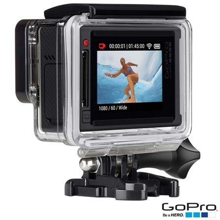 Filmadora GoPro Hero4 Silver Adventure com 12 MP, Full HD e Filmagem em 4K - HERO4SILV + Kit de Suportes Preto - Opeco, 0