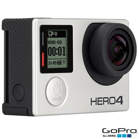 Câmera Filmadora GoPro Hero4 Silver Adventure com 12 MP,Full HD e Filmagem em 4K - HERO4SILV + Suporte para Prancha, 0