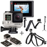 Filmadora GoPro Hero4 - HERO4SILV + Cartão de Memória 32 GB - MC113 +  Suporte - AFAEM-001 + Cinturão - ADOGM-001