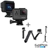 Camera Digital GoPro Hero 5 Black Full HD, 12 MP, 1,5' - CHDHX-501-BR + Suporte em 03 Formas GoPro Preto - AFAEM-001