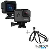 Camera Digital GoPro Hero 5 Black com 12 MP, 1,5' e Gravacao em 4K - CHDHX-501-BR + Cinturao Canino Preto - ADOGM-001
