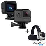 Camera Digital GoPro Hero 5 Black com 12 MP, 1,5' e Gravacao em 4K - CHDHX-501-BR + Faixa de Cabeca + Quikclip Preto