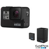 Câmera Digital GoPro Hero 7 Black com 12 MP, Gravação em 4K + Carregador Duplo de Bateria + Bateria Extra - GA00439-BR