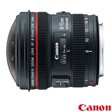 Lente Objetiva Olho de Peixe L Canon EF 8-15mm F/4L USM – 815F4L, DG