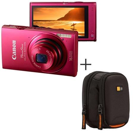 Câmera Digital Canon PowerShot ELPH 320 Rosa com 16.1MP, Tela de LCD 3.2