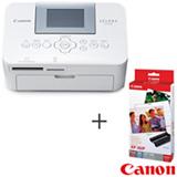 Impressora Fotografica Selphy CP1000 USB e Micro SD - Canon - CP 1000 + Papel Fotografico Brilhante - Canon - KP361IP