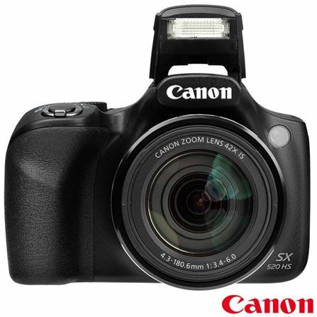 Câmera Digital Canon Powershot SX520HS + Impressora Fotográfica Canon Selphy CP820 + Papel Fotográfico Canon KP36IP, 0