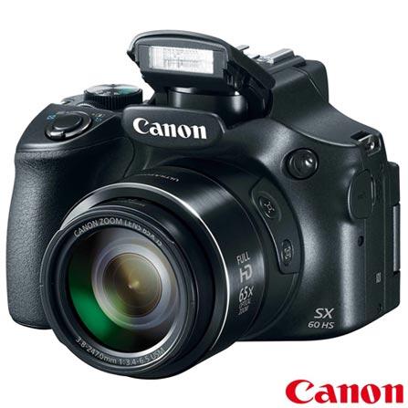 Câmera Digital Canon Powershot SX60HS + Impressora Fotográfica Canon Selphy CP820 + Papel Fotográfico Canon KP36IP, 0