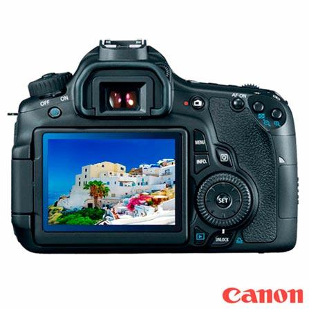 Câmera Digital Canon DSLR com 18 MP, Tela de 3.0