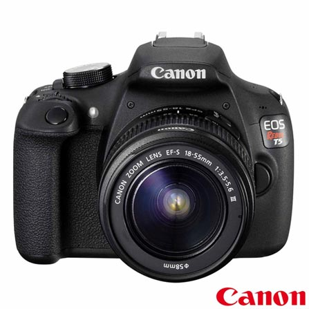 Camera Digital Canon EOS Rebel T5 DSLR com 18 MP, 3