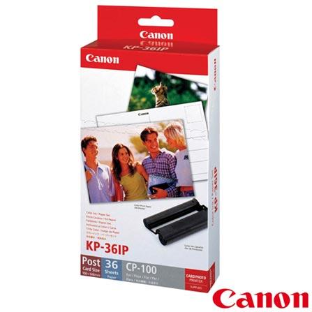 Papel Fotográfico Brilhante Canon KP36IP para Impressoras Fotográficas - KP361IP, DG