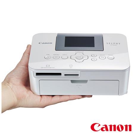 Impressora Fotografica Selphy CP1000 com USB e Micro SD - Canon, Bivolt, Bivolt, Branco, Jato de Tinta, USB e Cartão de Memória, Não, Sim, Não, Não, Não, Não, LCD, Colorida, 12 meses, 1 ppm