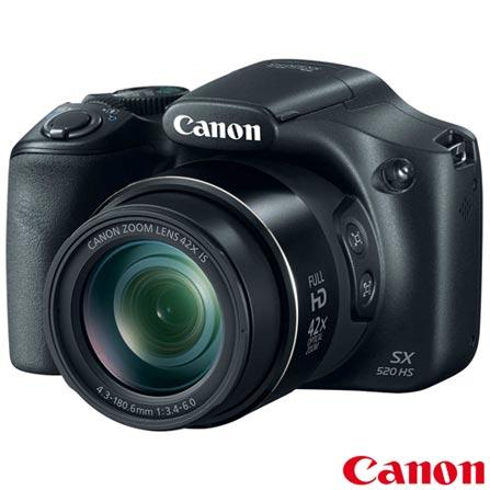 Câmera Digital Canon PowerShot Superzoom com 16 MP, 3