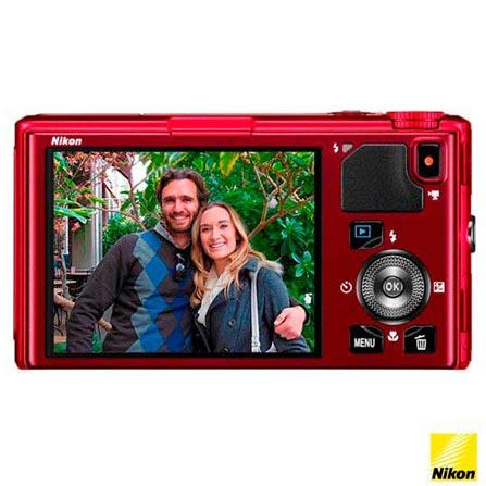Câmera Digital Nikon 18MP Vermelha Coolpix S9500 + Porta Câmera Camcorder Preto para Câmera Compacta Case Logic - XNDC5801, De 16.1 MP a 18 MP, 0