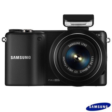 Câmera Semiprofissional Samsung NX2000 Preta + Mochila para Câmera Digital Profissional Lowepro LP36417 Preta, Acima de 18.1 MP, 0
