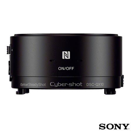 Câmera Digital Sony Cyber-Shot DSCQX10 para Tablet ou Smartphone, Acima de 18.1 MP, 18.2 MP, Compactas