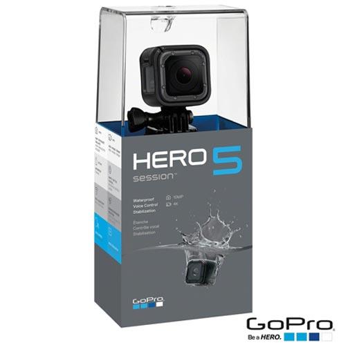 Câmera Digital GoPro Hero 5 Session com 10 MP e Gravação em 4K - CHDHS-501-LA, Preto, 4K, Não se aplica, 10.0 MP, 4K, Sim, 12 meses