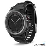 Relógio Fenix 3 Cinza com GPS, Monitor Cardíaco e Pulseira de Borracha - 010-01338-01