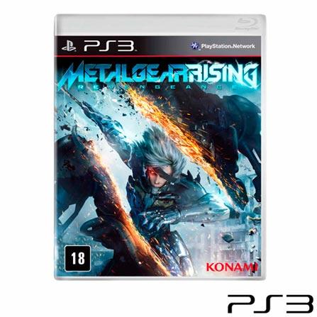 Jogo Metal Gear Rising: Revengeance para PS3, PlayStation 3, Ação, Blu-ray, 18 anos, 03 meses, 837172024622