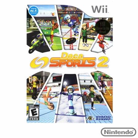 Jogo Deca Sports 2 para Nintendo Wii, Nintendo Wii, Esportes, DVD, Livre, Inglês, 03 meses, 837174008446