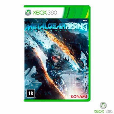 Jogo Metal Gear Rising: Revengeance para Xbox 360, Xbox 360, Ação, DVD, 18 anos, 03 meses, 837173015162