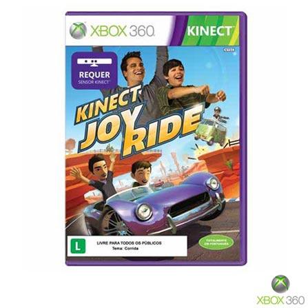 Sensor Preto Kinect para Xbox 360 - Microsoft + Jogo Kinect Joy Ride para XBOX 360 - Microsoft, 0, Xbox