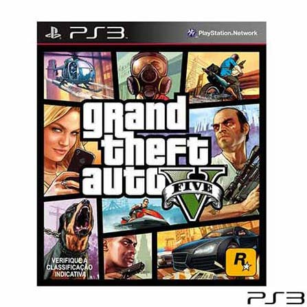 Jogo GTA Grand Theft Auto V para Playstation 3, GM