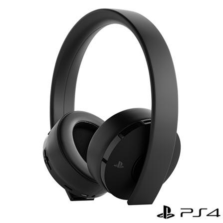 Fone de Ouvido Headset Gamer Gold Wireless Stereo Preto Sony