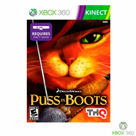 Jogo Puss In Botts para Xbox 360, Xbox 360, Ação, DVD, 10 anos, 03 meses, 7529195539612