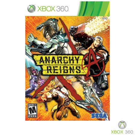Jogo Anarchy Reigns para Xbox 360, Xbox 360, Luta, DVD, 14 anos, Inglês, 03 meses, 10086681550