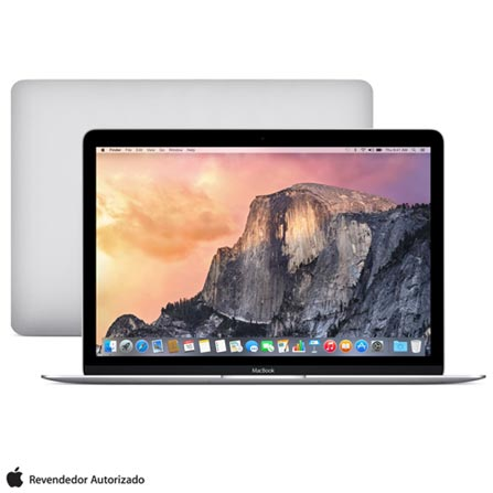 "MacBook, M, 8 GB, 512 GB, 12"", Prata - MF865BZ/A  + Microsoft Office 365 Personal com 01 ano de Assinatura, 1"
