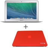 """MacBook Air, Intel® Core™ i5 Dual Core, 4 GB, 128 GB, Tela de 13,3"""" - MJVE2BZ/A + Capa Vermelha Yogo - 13RETRED"""
