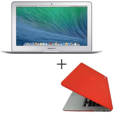 """MacBook Air, Intel® Core™ i5, 4 GB, 128 GB, Tela de 11,6"""" - MJVM2BZ/A + Capa para Macbook Air Vermelha Yogo - YG11AIRRED, 0, Core i5 de até 13,9''"""