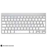 Teclado Wireless Keyboard Branco e Alumínio Apple