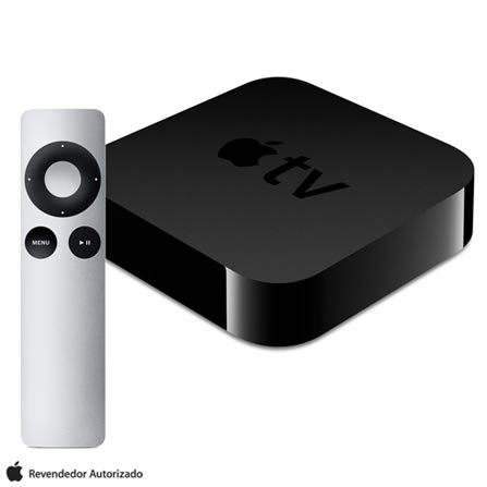 Apple TV 3ª Geração para Televisores, Preto Apple - MD199BZA, Bivolt, Bivolt, Preto, 12 meses