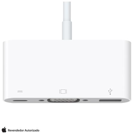 Adaptador para MacBook de USB-C para VGA Multiporta - Apple - MJ1L2AM/A, Branco, Cabos e Adaptadores, 12 meses