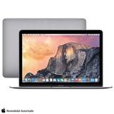 "MacBook, Intel® Core™ M 1007U, 8GB, 256GB, Tela de 12"", OS X Yosemite, Cinza Espacial - MJY32BZ/A"