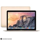 MacBook, Intel® Core™ M, 8GB, 256GB, Tela de 12', OS X Yosemite, Dourado - MK4M2BZ/A