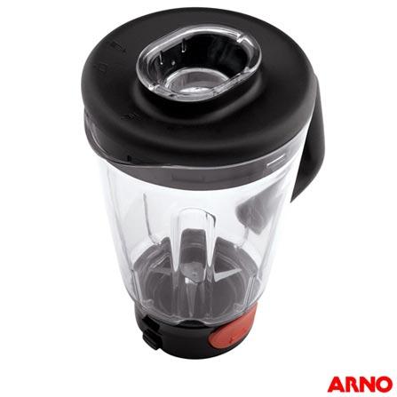 Liquidificador Clic'Lav com 5 Velocidades Arno, 110V, 220V, Preto, Acrílico, 5, 02 Litros, 12 meses, 600 W, Filtros
