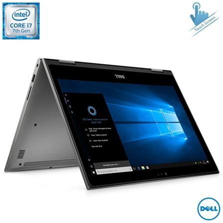 Notebook 2 em 1 Dell Core i7, 8GB, 256GB, 13,3, Inspiron 13 Serie 5000 - i13-5378-A40C + Microsoft Office 365 Personal, 0, Core i7 de até 13,9''