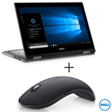 Notebook 2 em 1 Dell, Core i5-7200U, 8GB, 1TB, 13,3', Cinza - i13-5378-A20C + Mouse Optico Wireless Preto - Dell - WM527