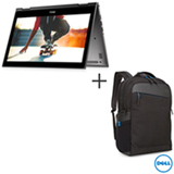 Notebook 2 em 1 Dell, Intel Core i5-7200U, 8GB, 1TB, 13,3', Cinza - i13-5378-A20C + Mochila Preta - Dell - 460-BCFE